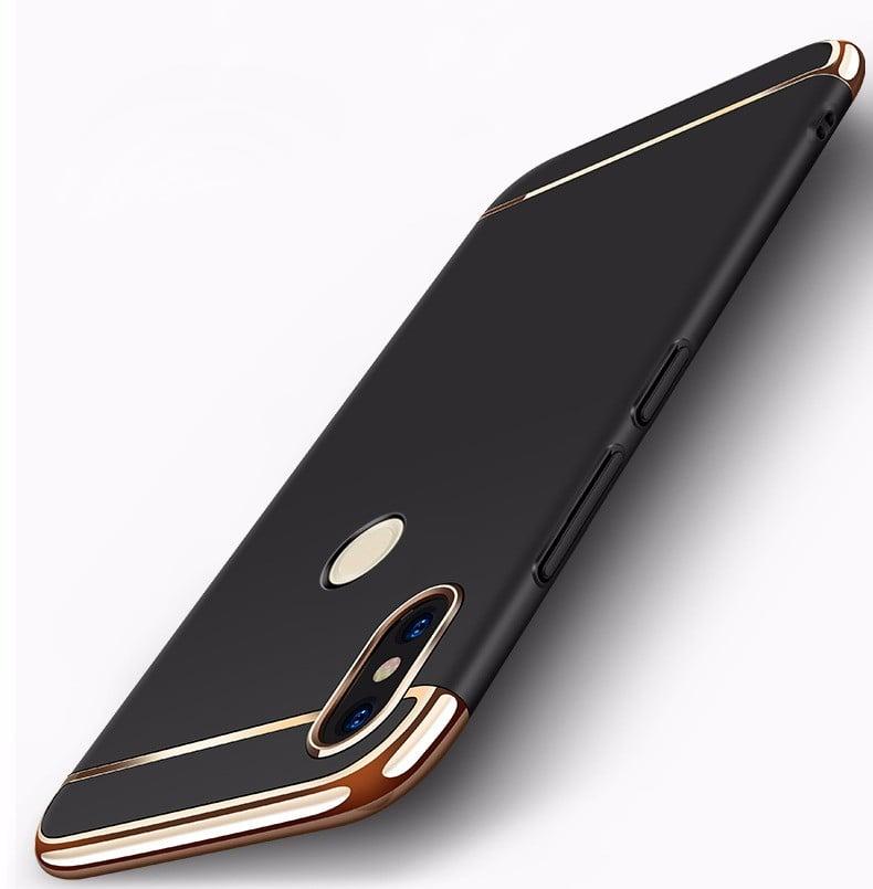 sports shoes 9b114 0058f Vaku ® Xiaomi Redmi Note 5 Pro Ling Series Ultra-thin Metal Electroplating  Splicing PC Back Cover