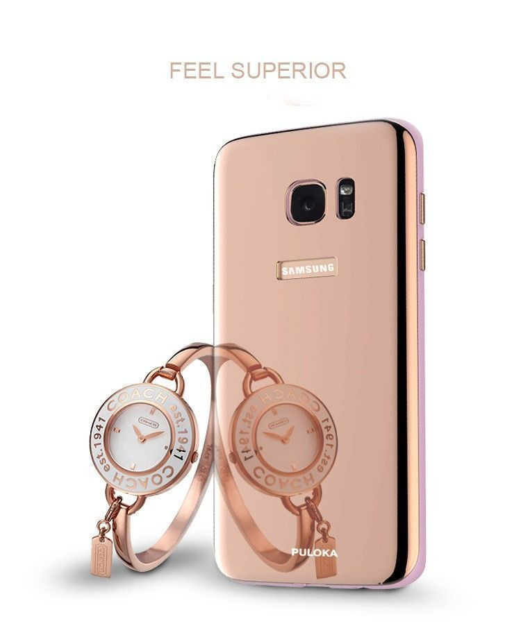 the best attitude a69ec 49787 Puloka ® Samsung Galaxy S7 Edge Luxury Chrome Electroplated Finish  Protective Sleeve with Soft Shell PC Back Cover