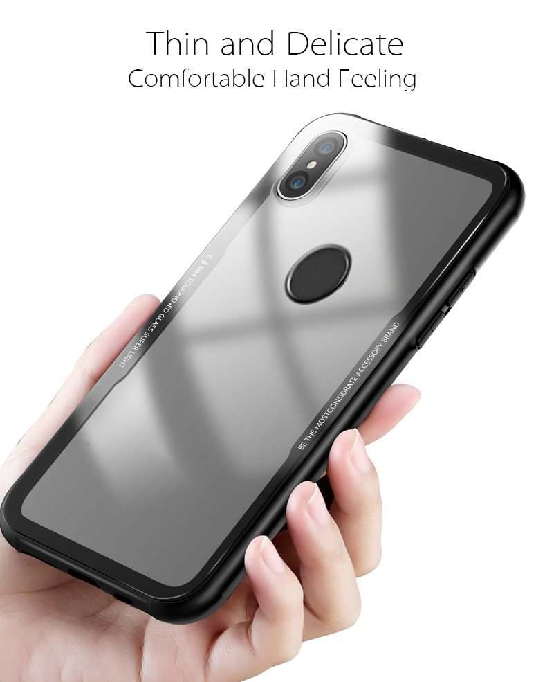 wholesale dealer 66082 d4c26 Vaku ® Xiaomi Redmi Note 5 Pro GLASSINO Luxurious Edition Ultra-Shine  Silicone Frame Ultra-Thin Case Transparent Back Cover
