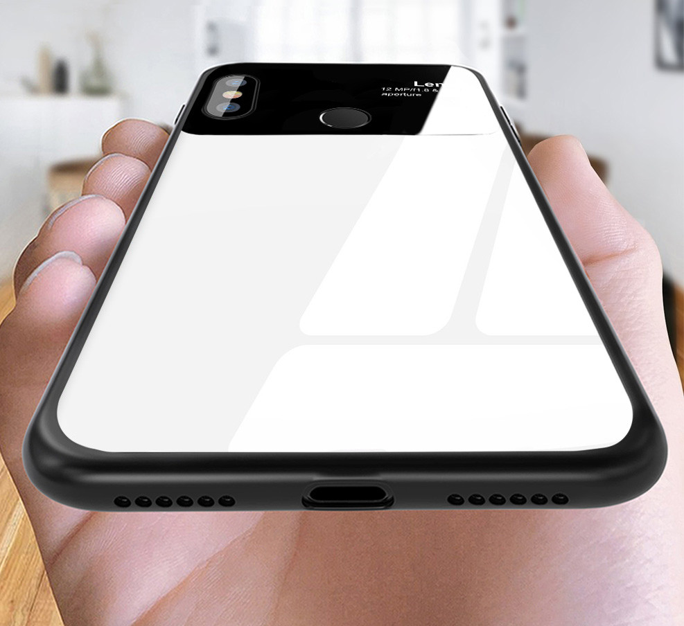 finest selection 5c5a8 2aedf Vaku ® Xiaomi Mi A2 Lite Polarized Glass Glossy Edition PC 4 Frames +  Ultra-Thin Case Back Cover