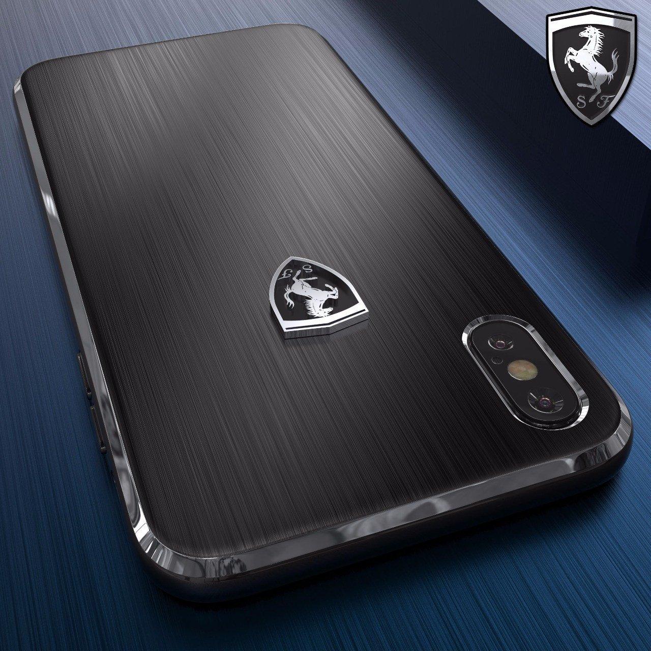 super popular f0693 a168d Ferrari ® Apple iPhone X California Metallic Edition Luxurious Case Limited  Edition Back Cover
