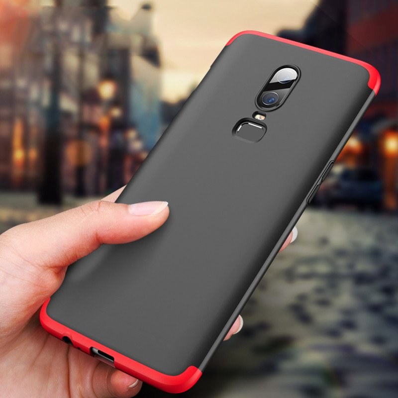 quality design dffc4 8820e FCK ® OnePlus 6 5-in-1 360 Series PC Case Dual-Colour Finish Ultra-thin  Slim Front Case + Back Cover