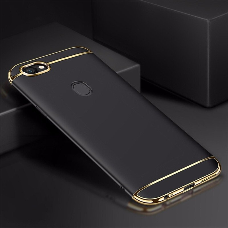 buy online 6f130 17f38 Vaku ® Oppo F5 Ling Series Ultra-thin Metal Electroplating Splicing PC Back  Cover