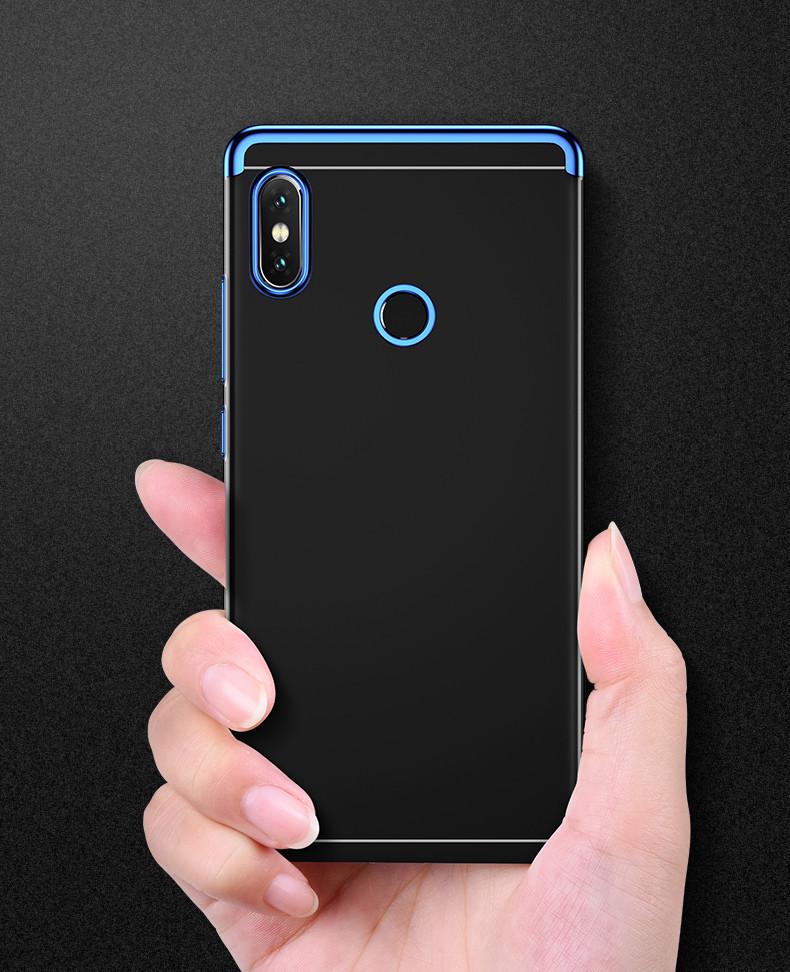 pretty nice 7b979 a5157 Vaku ® Xiaomi Redmi Note 5 Pro CAUSEWAY Series Electroplated Shine Bumper  Finish Full-View Display + Ultra-thin Transparent Back Cover