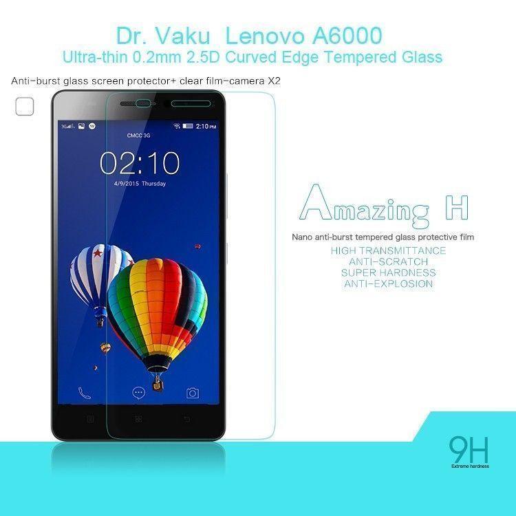 Dr. Vaku ® Lenovo A6000 Ultra-thin 0.2mm 2.5D Curved Edge Tempered