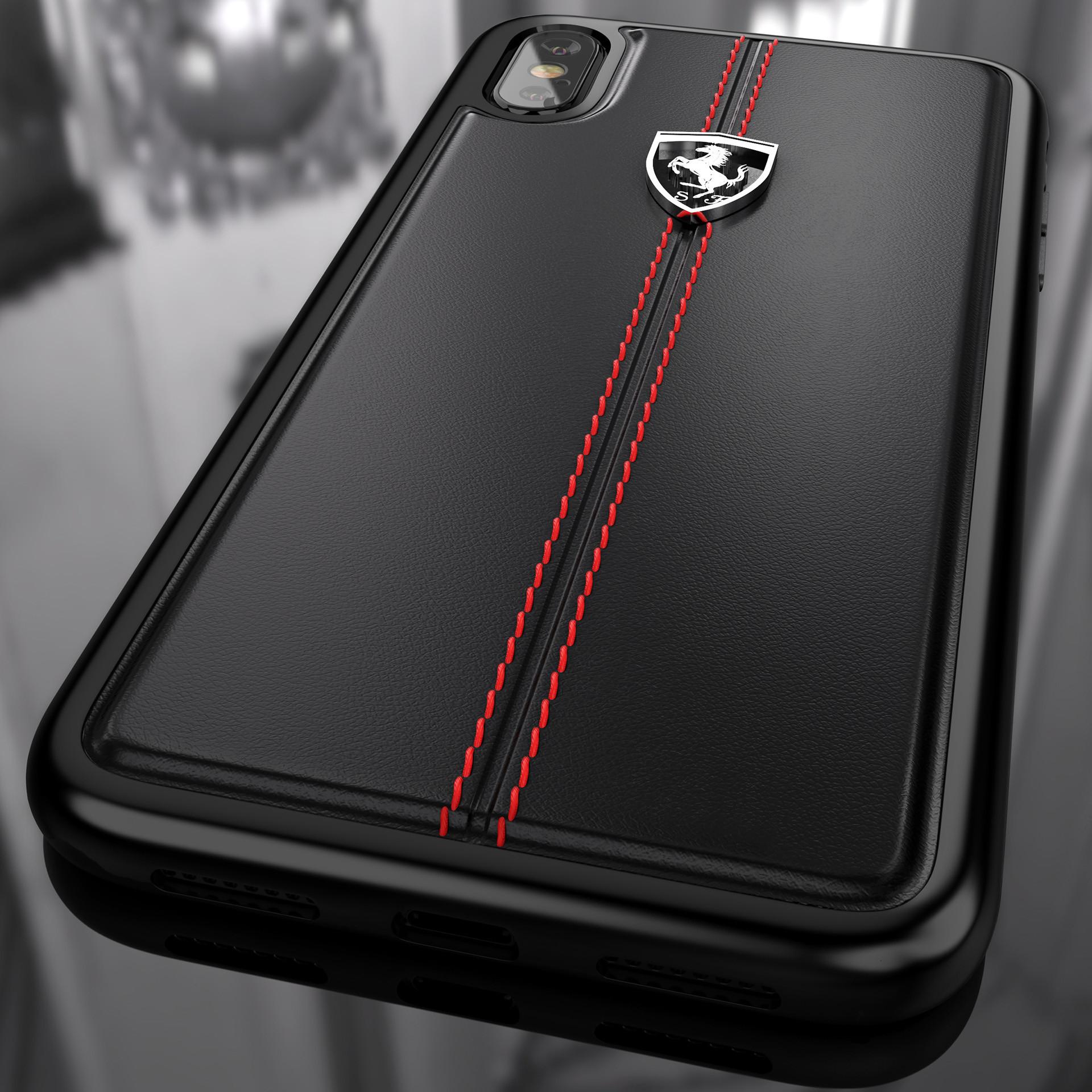 big sale e9658 a27cb Ferrari ® Apple iPhone X Vertical Contrasted Stripe - Material Heritage  leather Hard Case back cover
