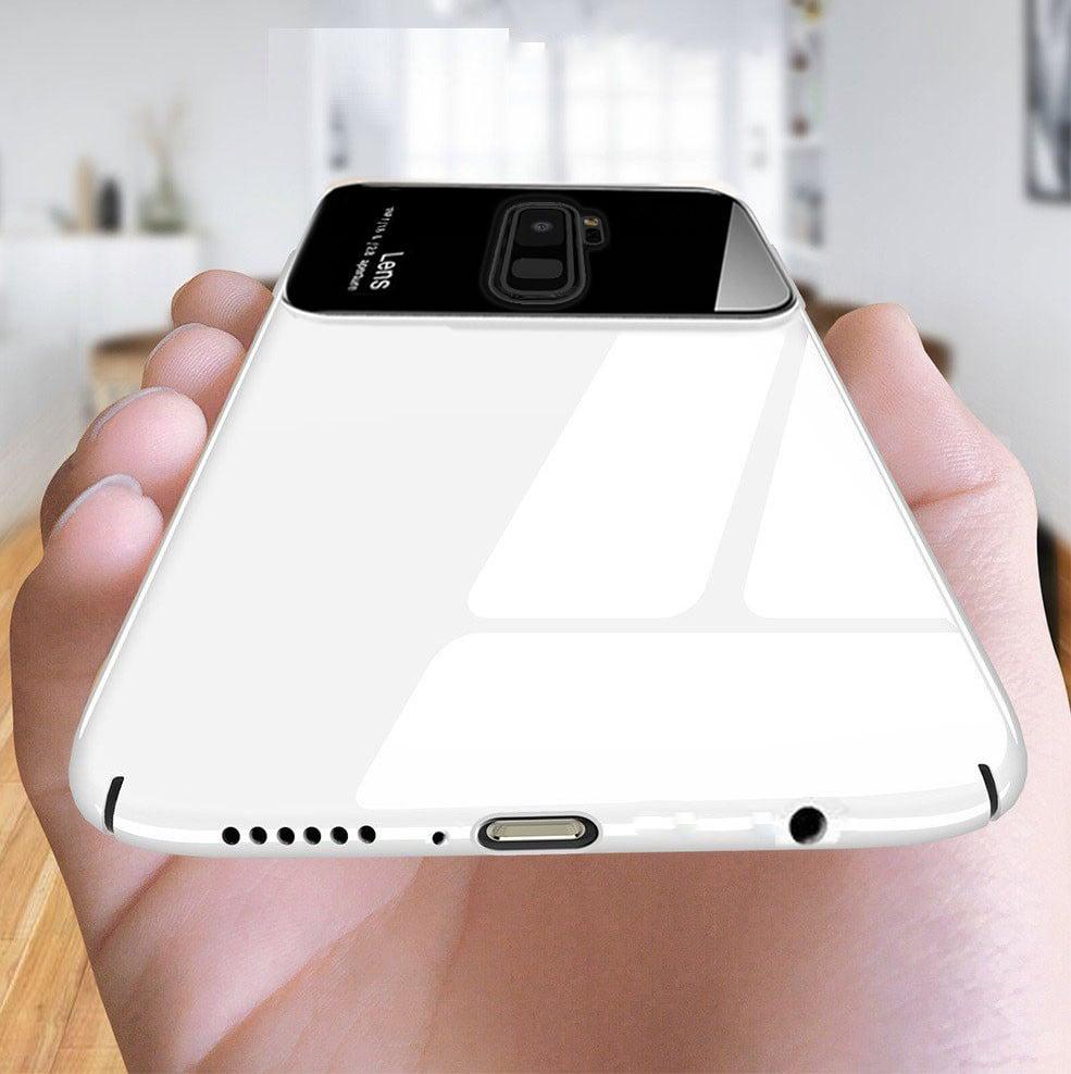 the best attitude cc8a4 81f85 Vaku ® Samsung Galaxy A8 PLUS Polarized Glass Glossy Edition PC 4 Frames +  Ultra-Thin Case Back Cover