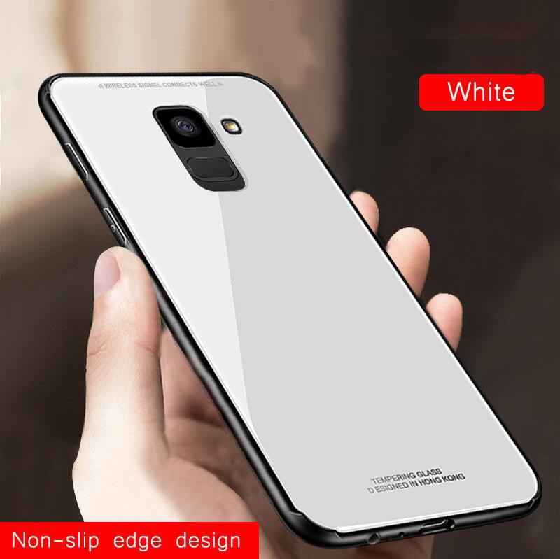 purchase cheap 80aa9 dfda6 Vaku ® Samsung Galaxy J6 Club Series Ultra-Shine Luxurious Tempered Finish  Silicone Frame Thin Back Cover