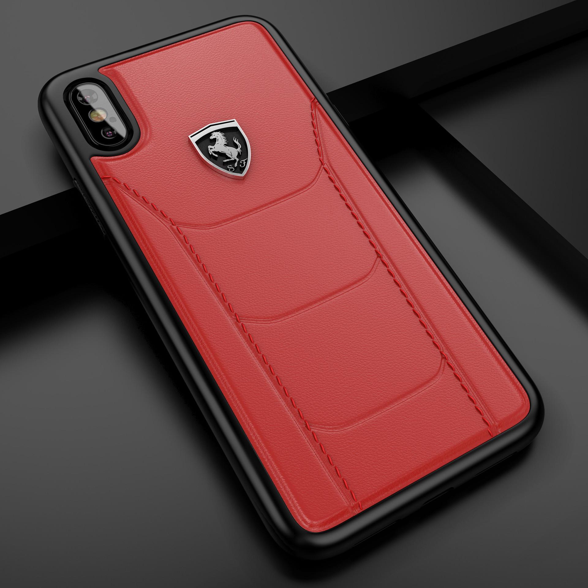 iphone xs max ferrari leather case