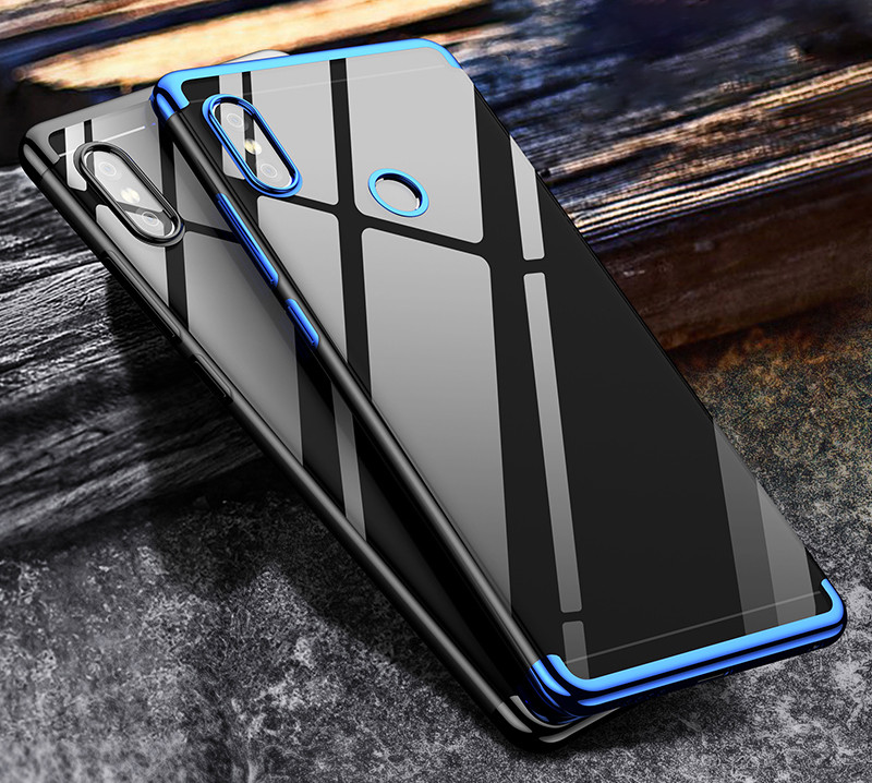 pretty nice a5cc8 a28e5 Vaku ® Xiaomi Redmi Note 5 Pro CAUSEWAY Series Electroplated Shine Bumper  Finish Full-View Display + Ultra-thin Transparent Back Cover