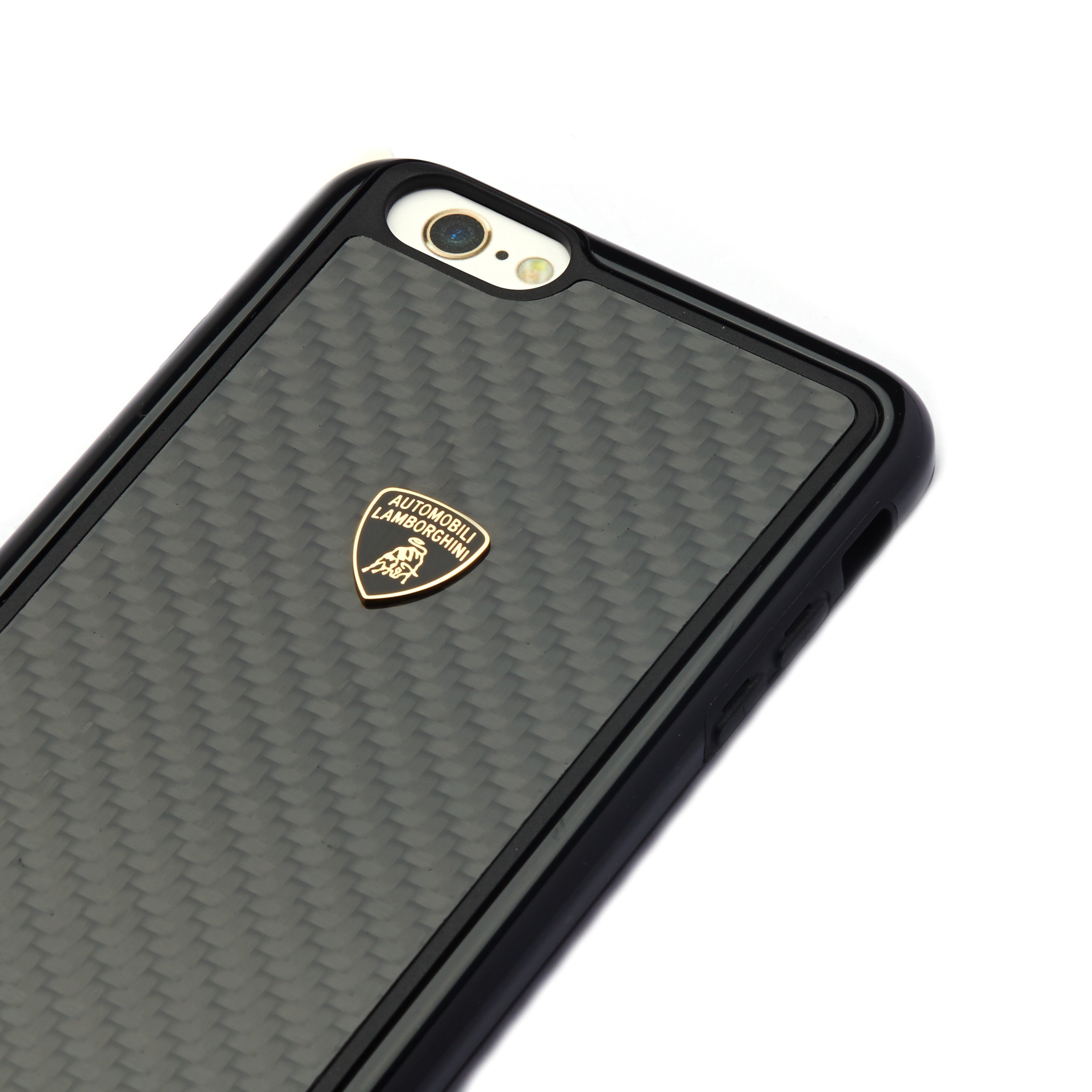 new product 2fabf a6f42 Lamborghini ® Apple iPhone 6 / 6S Official 3D Carbon Fiber Limited Edition  Case Back Cover