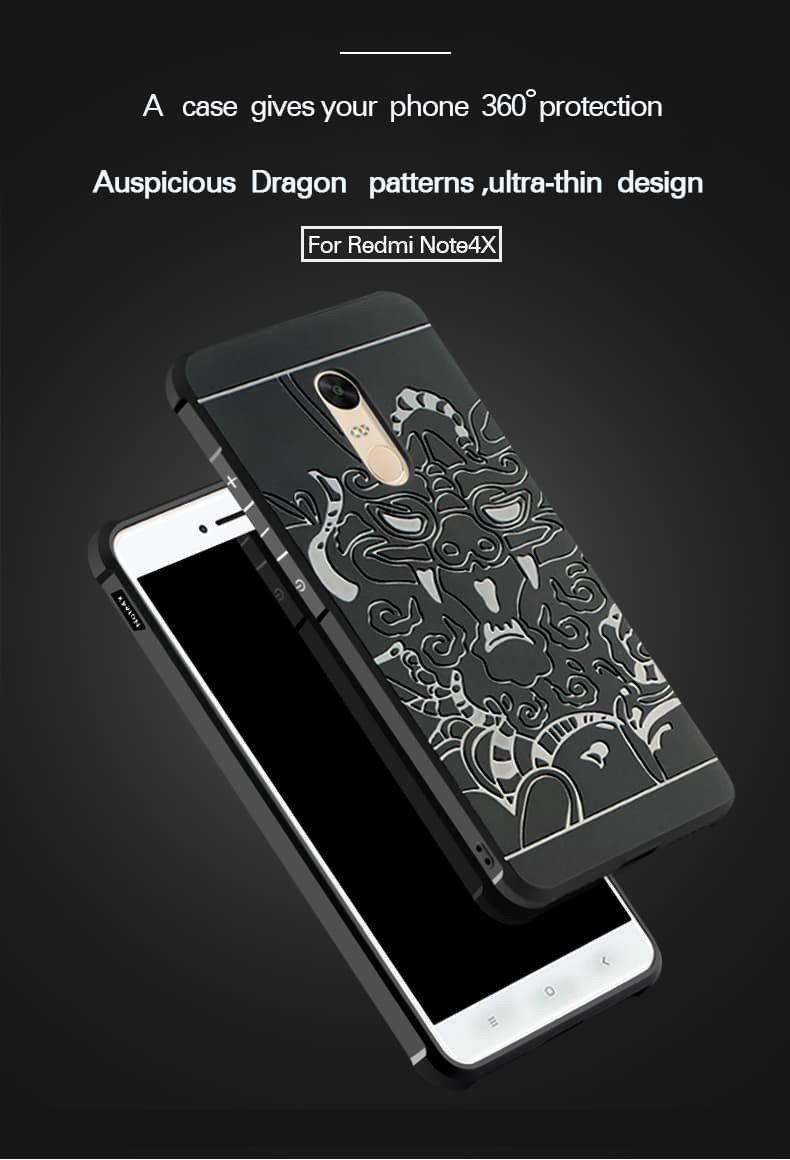 Vaku Redmi Note 4 3d Auspicious Dragon Crash Proof Ultra Case Aluminium Bumper Mirror Xiaomi Hard Back Casing Series Three Layer Protective Silicon Cover With Impact Absorbing Rubber Rim Clear