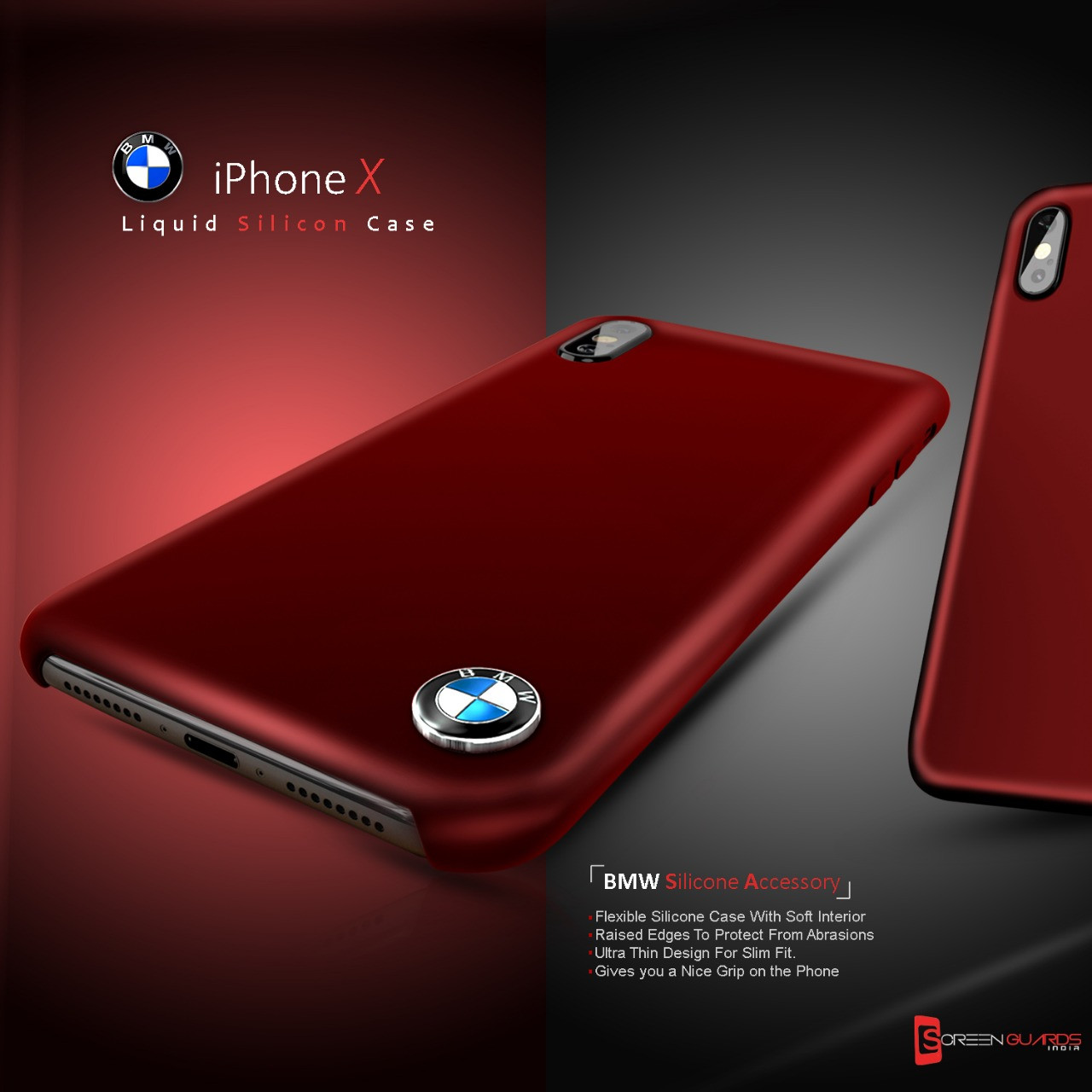 BMW ® Apple iPhone X Liquid Silicon Luxurious Case Limited ...