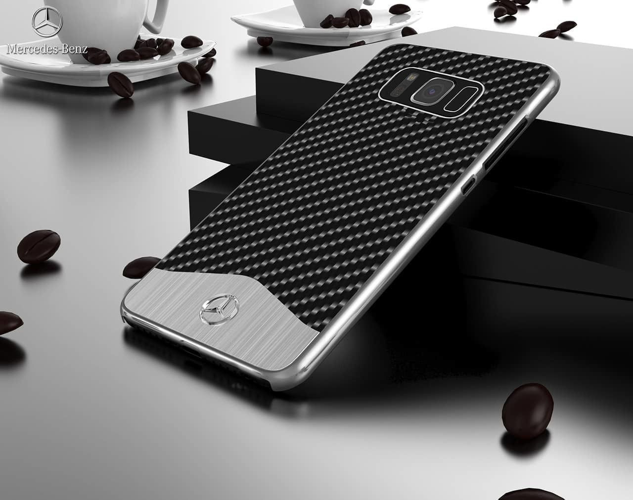 timeless design b86c0 5e1c9 Mercedes Benz ® Samsung Galaxy S8 Plus SLR McLaren Carbon Fibre (Limited  Edition) Electroplated Metal Hard Case Back Cover