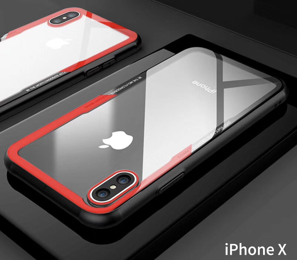 low priced 9b80c 74cb1 Vaku ® Apple iPhone X GLASSINO Wireless Edition Soft Silicone 4 Frames Plus  Ultra-Thin Case Transparent Cover