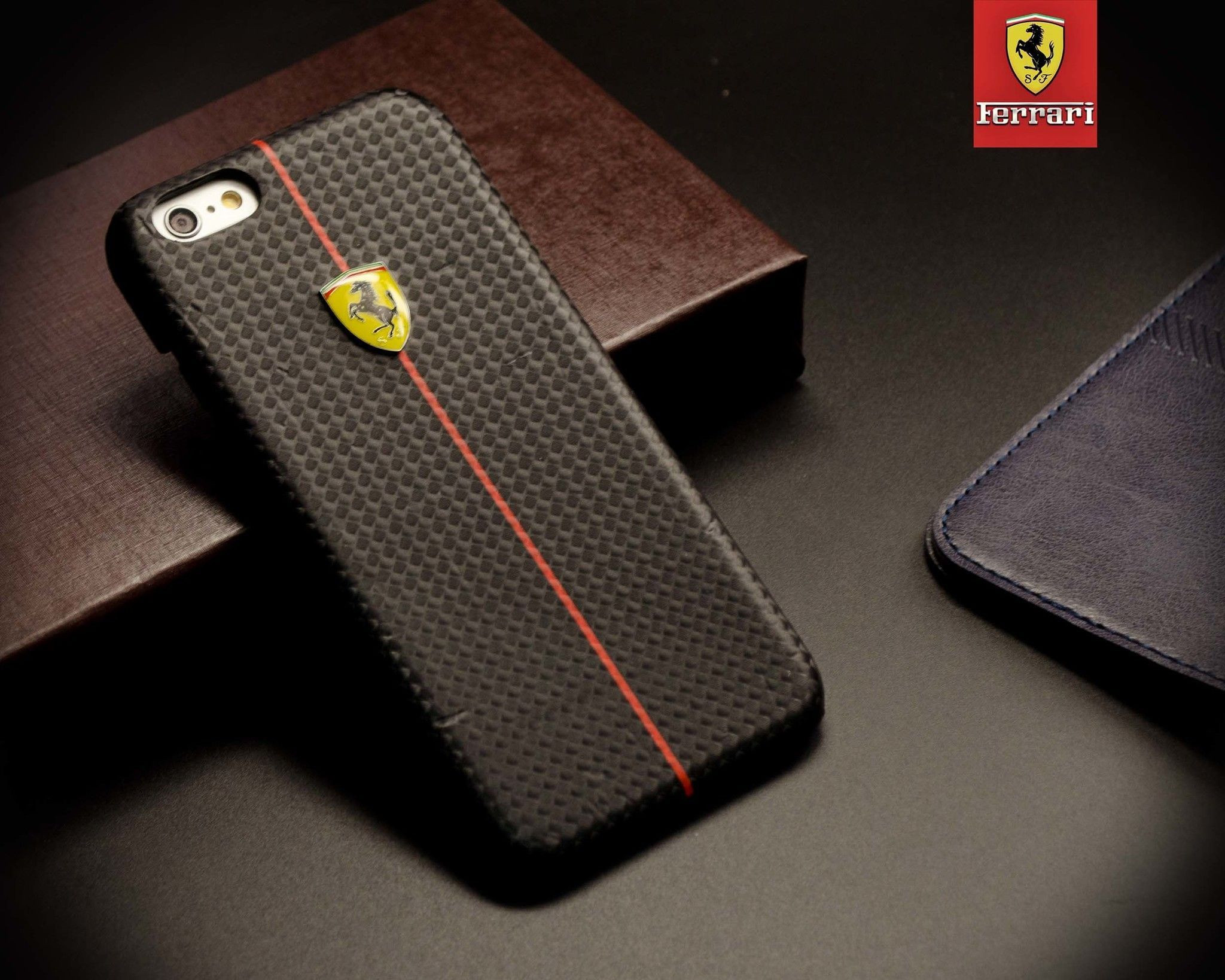 Ferrari ® Apple iPhone 6 / 6S Official Hand Stitched Premium Leather Case Back Cover