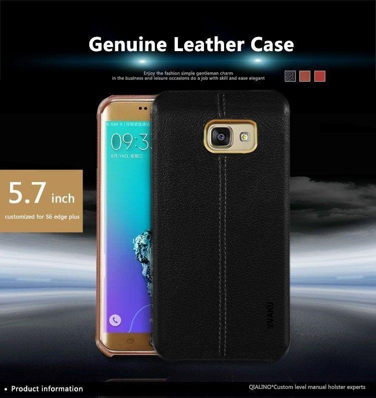 ... Vaku ® Samsung Galaxy J5 (2016) Lexza Series Double Stitch Leather Shell with Metallic ...