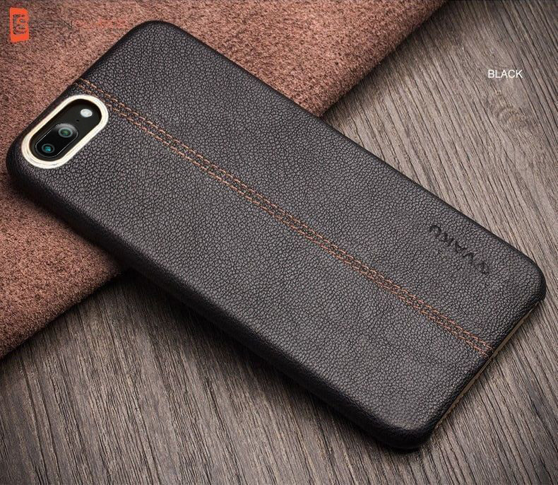 scarpe sportive d5e0e c1df1 Vaku ® OnePlus 5 Lexza Series Double Stitch Leather Shell with Metallic  Camera Protection Back Cover