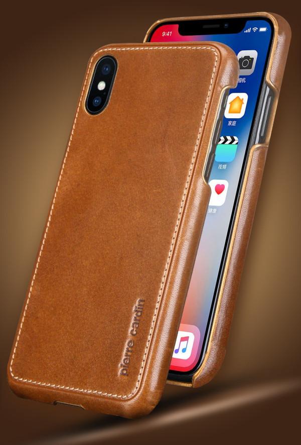brand new 0c723 bd927 Pierre Cardin ® Apple iPhone X / XS Paris Design Premium Leather Case Back  Cover
