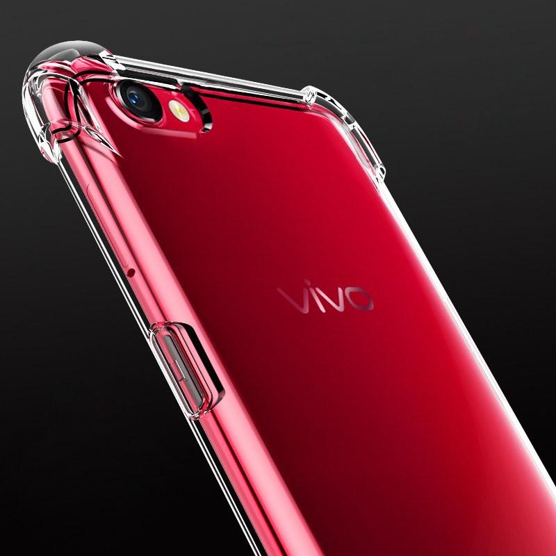 new product 8412f ad08f Vaku ® Vivo V5 / V5s PureView Series Anti-Drop 4-Corner 360° Protection  Full Transparent TPU Back Cover Transparent