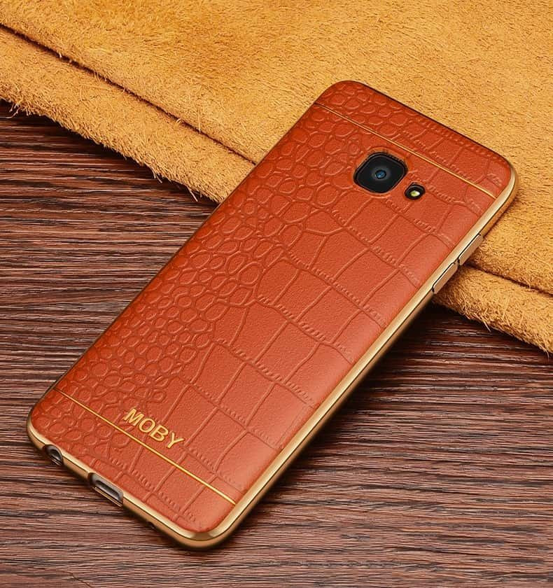 huge selection of 114ea 09335 VAKU ® Samsung Galaxy A5 (2017) European Leather Stiched Gold Electroplated  Soft TPU Back Cover