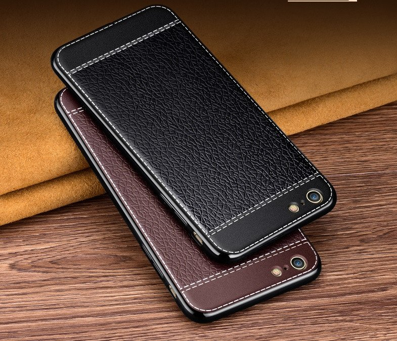 new style 41fbb aa03b VAKU ® VIVO Y69 Leather Stiched Gold Electroplated Soft TPU Back Cover