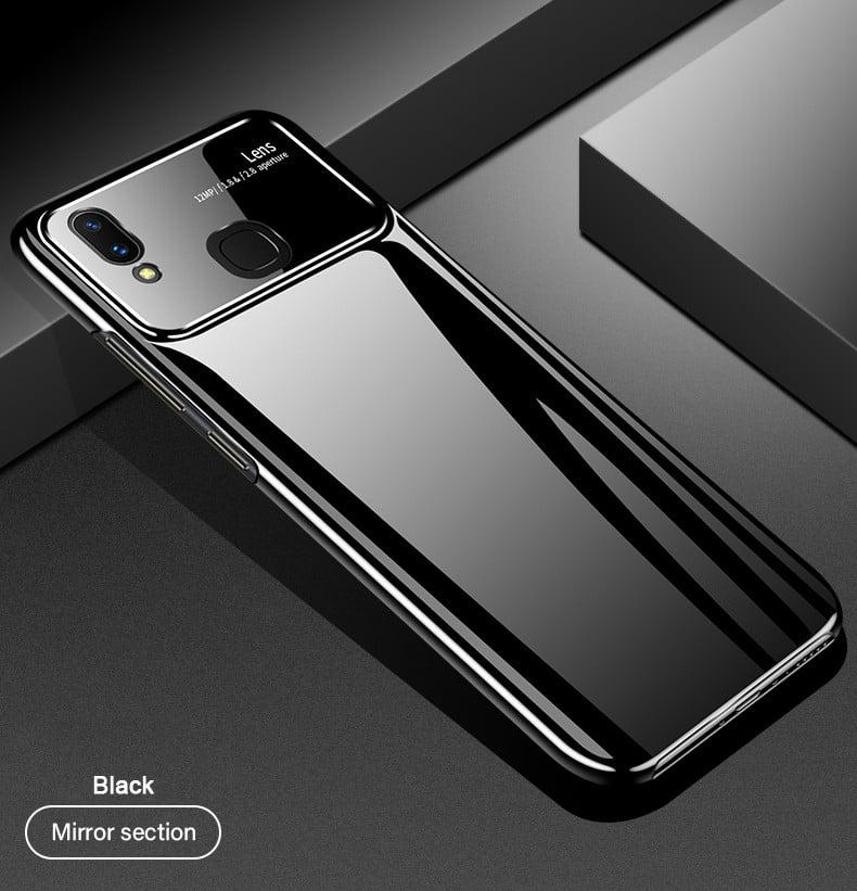 new style 40781 42c07 Vaku ® Vivo V9 Polarized Glass Glossy Edition PC 4 Frames + Ultra-Thin Case  Back Cover