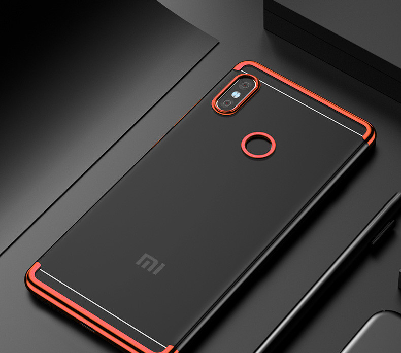 premium selection a1b84 6f277 Vaku ® Xiaomi Redmi Note 6 Pro CAUSEWAY Series Electroplated Shine Bumper  Finish Full-View Display + Ultra-thin Transparent Back Cover