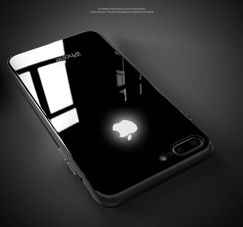 best website 91531 77c17 LEKE ® Apple iPhone 8 Plus Laser LED Light Illuminated Apple Logo Club  Series Case Back Cover