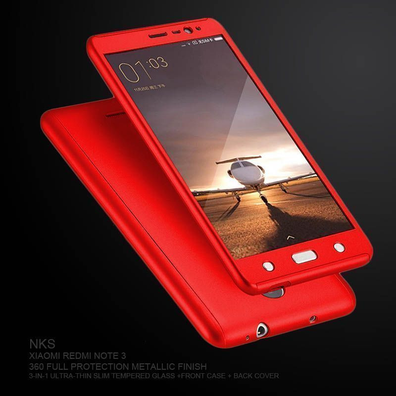 new styles 515bd 0104a NKS ® Xiaomi Redmi Note 4 360 Full Protection Tempered + Front + Back Case