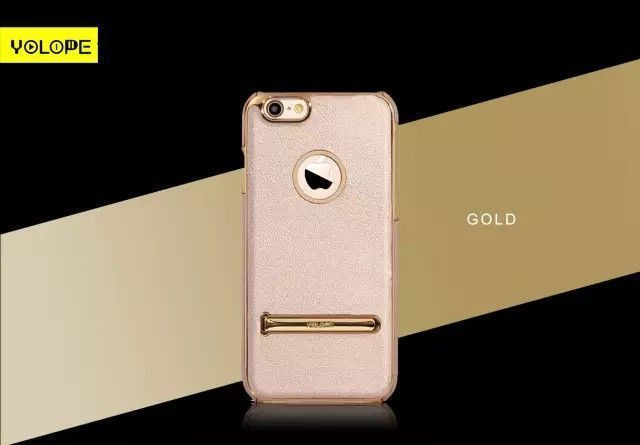 iphone y plus. yolope ® apple iphone 6 plus / 6s ultra-thin leather metal electroplating with logo display + inbuilt click stand back cover iphone y