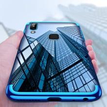 Vaku ® Vivo Y85 CAUSEWAY Series Electroplated Shine Bumper Finish Full-View Display + Ultra-thin Transparent Back Cover