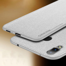 Vaku ® Vivo Y85 Luxico Series Hand-Stitched Cotton Textile Ultra Soft-Feel Shock-proof Water-proof Back Cover