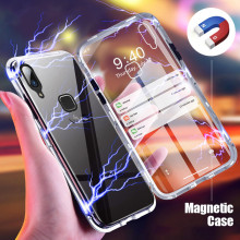 Vaku ® Vivo Y85 Electronic Auto-Fit Magnetic Wireless Edition Aluminium Ultra-Thin CLUB Series Back Cover