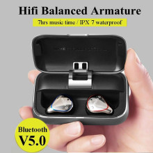 Mifo Bluetooth 5.0 IPX7 Waterproofed Earbuds with 100 Hours Playtime, Hi-Fi Sound Wireless Headphones, Built-in Mic with 2600mAh Portable Charging Case