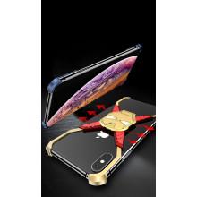 VAKU ® Apple iPhone XS Max Ironman Stark Aluminum Metal Back Cover