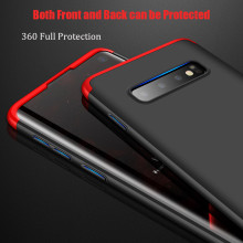 GKK ® Samsung Galaxy S10 3-in-1 360 Series PC Case Dual-Color Finish Ultra-thin Slim Front Case + Back Cover