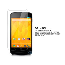 Dr. Vaku ® LG Google Nexus 4 Ultra-thin 0.2mm 2.5D Curved Edge Tempered Glass Screen Protector Transparent