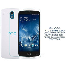 Dr. Vaku ® HTC Desire 326G Ultra-thin 0.2mm 2.5D Curved Edge Tempered Glass Screen Protector Transparent