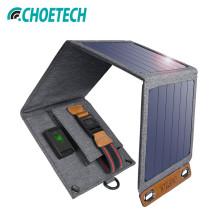 Choetech ® Waterproof Foldable Multi-purpose 14 watt Portable USB Solar Power Charger