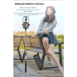 Vaku ® Flexible Aluminum Tripod Extendable Selfie Stick upto 3.5 feet with Wireless Bluetooth Remote