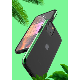 Luxos ® Apple iPhone 11 Pro Max Glossy Metallic Bezel Series Shock-Proof Case with additional Metallic Bumper Back Cover
