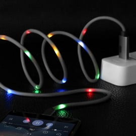 Vaku ® Apple Smart Music LED lighting Port Charging / Data Cable