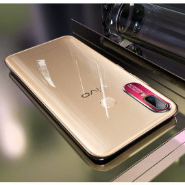 Vaku ® Vivo V9 Prime Series Ultra-Clear Transparent View with Anodized Aluminium Finish Back Cover