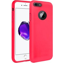 Vaku ® Apple iPhone 8 Liquid Silicon Velvet-Touch Silk Finish Shock-Proof Back Cover