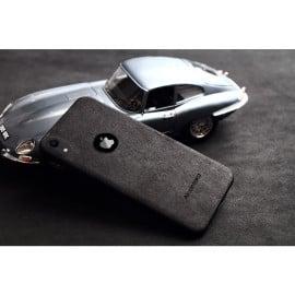VAKU ® For Apple iPhone XR Alcantara Super Suede Logo Cut Leather Cover