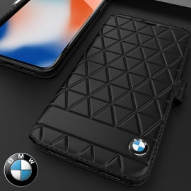 BMW ® Apple iPhone XS Max Official Superstar zDRIVE Leather Limited Edition Flip Cover