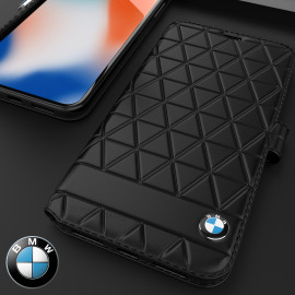 BMW ® Apple iPhone 7 / 8 Official Superstar zDRIVE Leather Limited Edition Flip Cover