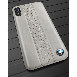 BMW ® iPhone XR M2 COMPETITION freckled leather Back Case