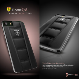 Ferrari ® Apple iPhone 7 Official 458 Double Stitched Dual-Material PU Leather Back Cover